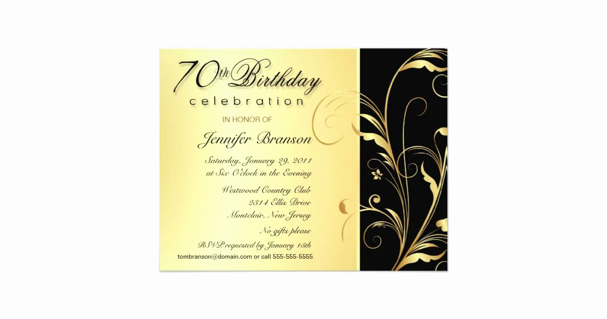70th Birthday Invitation Templates Free Elegant 15 70th Birthday Invitations Design and theme Ideas