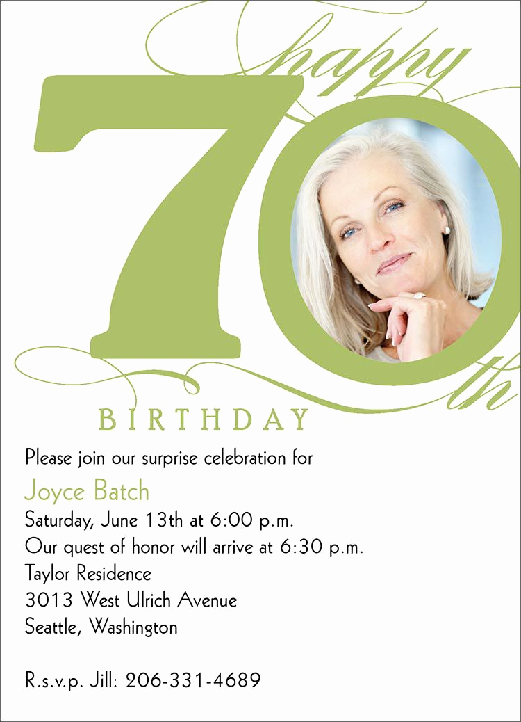 70th Birthday Invitation Templates Free Luxury 15 70th Birthday Invitations Design and theme Ideas