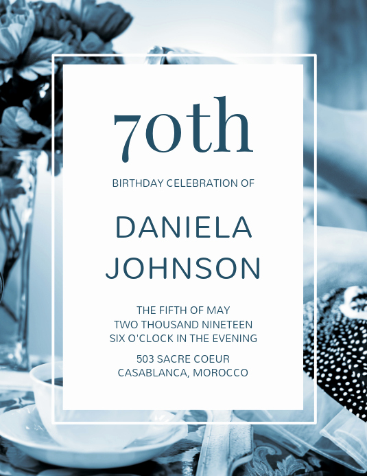 70th Birthday Invitation Templates Free New 70th Birthday Flyer Template