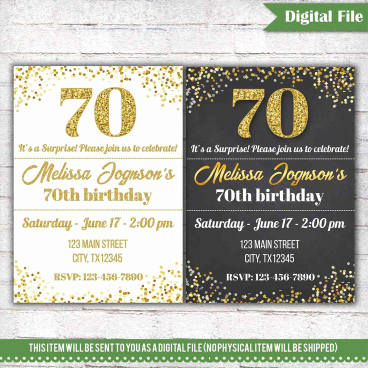 70th Birthday Invitation Templates Free Unique Best 25 70th Birthday Invitations Ideas On Pinterest