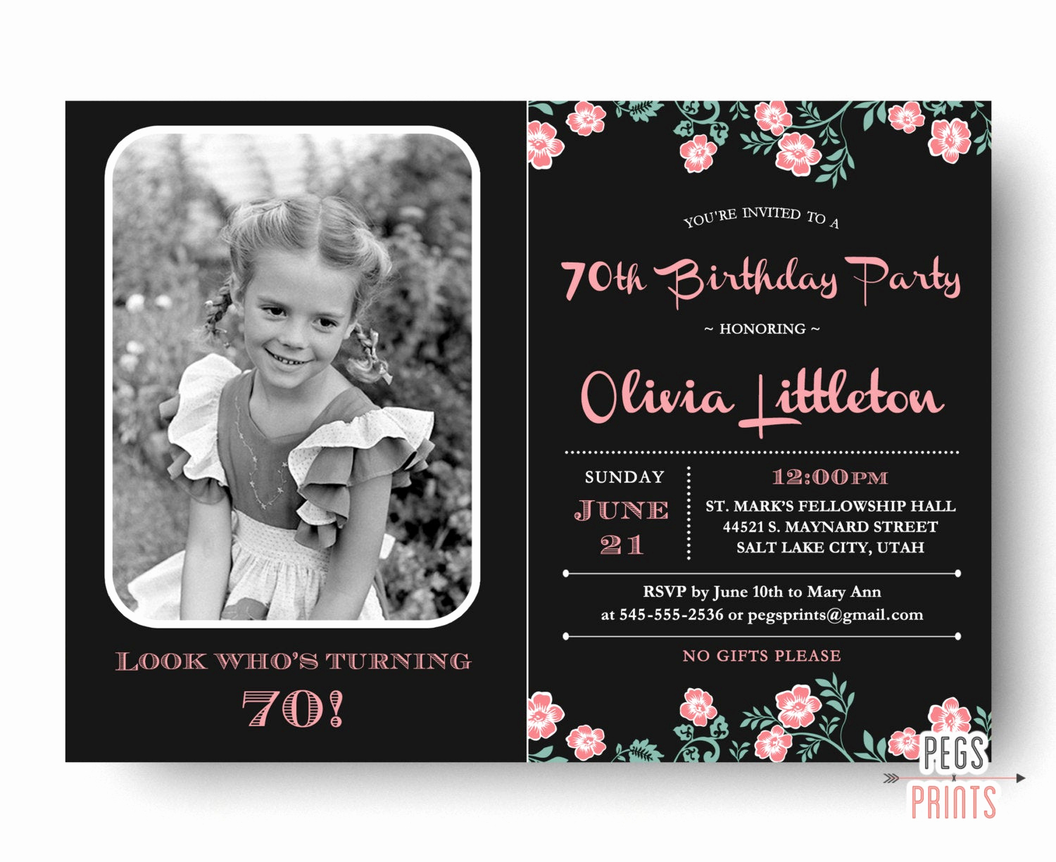70th Birthday Invitation Wording Beautiful Birthday Invitation 70th Birthday Invitation Printable