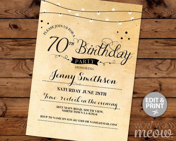 70th Birthday Invitation Wording Best Of 70th Birthday Invitation Elegant Seventy Invitations Party