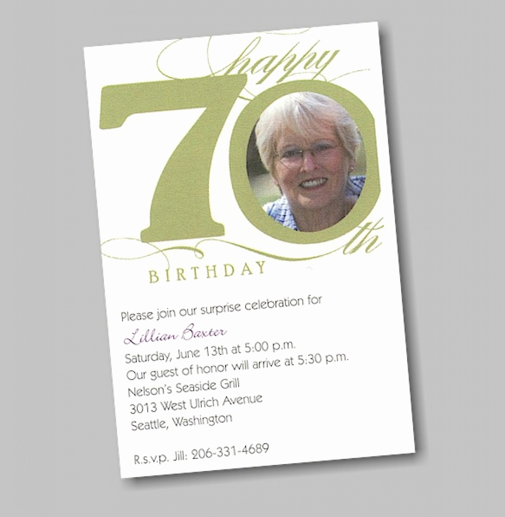 70th birthday invitation wording