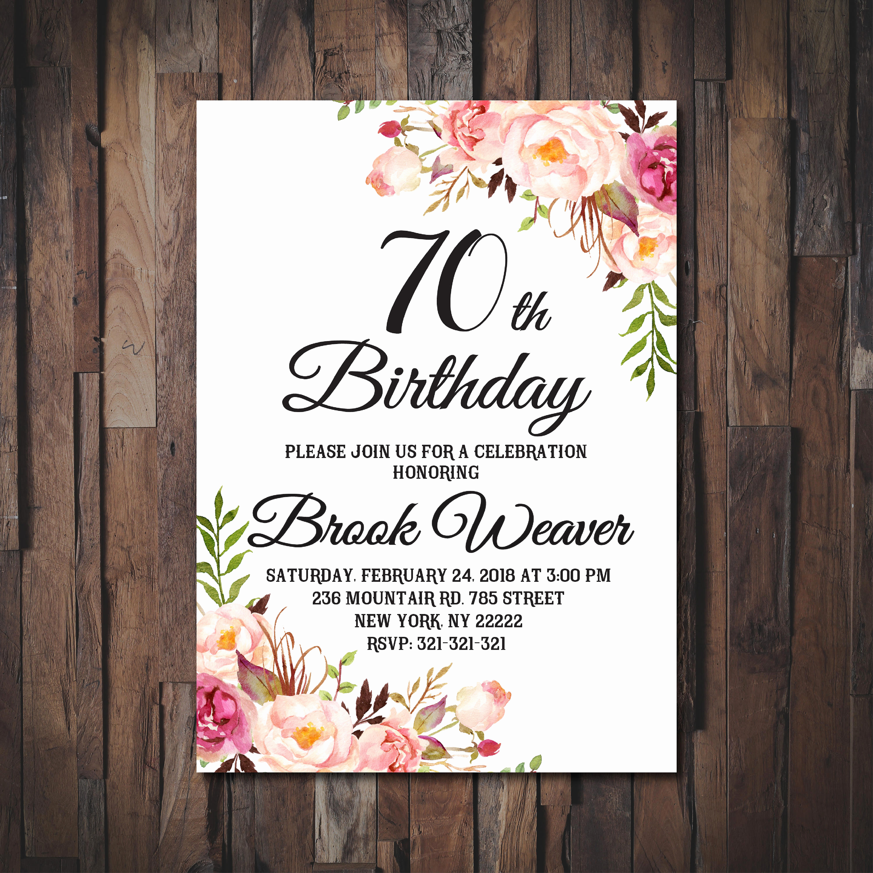 70th Birthday Invitation Wording Inspirational 70th Birthday Invitation for Women 70th Birthday