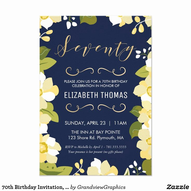 70th Birthday Party Invitation Wording Awesome Best 25 70th Birthday Invitations Ideas On Pinterest