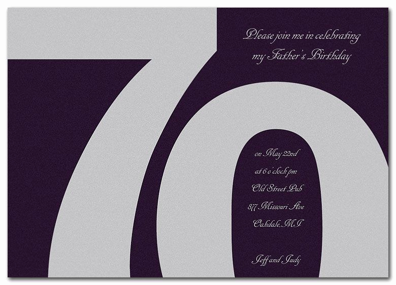 70th Birthday Party Invitation Wording Fresh 15 70th Birthday Invitations Design and theme Ideas