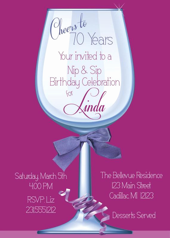 70th Birthday Party Invitation Wording Inspirational Women S Birthday Party Invitation 70th Birthday by