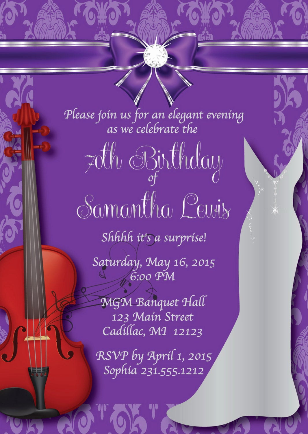 70th Birthday Party Invitation Wording Luxury 70th Birthday Invitation Women S Elegant Birthday
