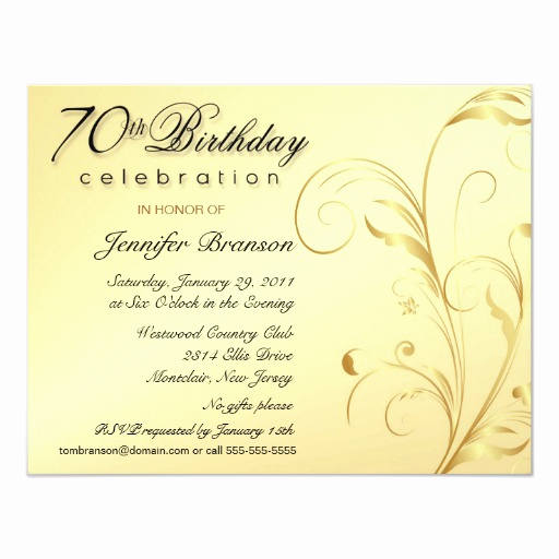 70th Birthday Party Invitation Wording Luxury Elegant 70th Birthday Surprise Party Invitations