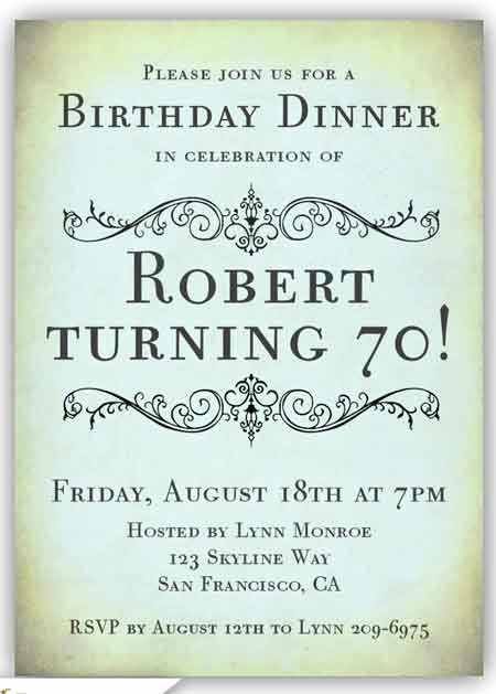 70th Birthday Party Invitation Wording New the Best 70th Birthday Invitations—by A Professional Party