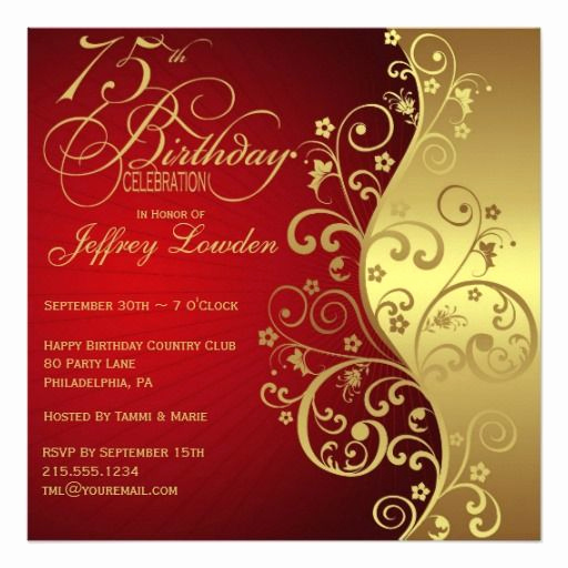 75th Birthday Invitation Wording Awesome 25 Best Ideas About 75th Birthday Invitations On