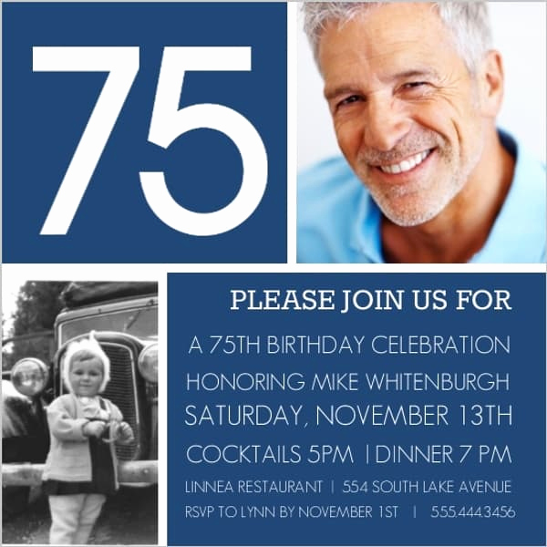 75th Birthday Invitation Wording Best Of the Best 75th Birthday Invitations and Party Invitation