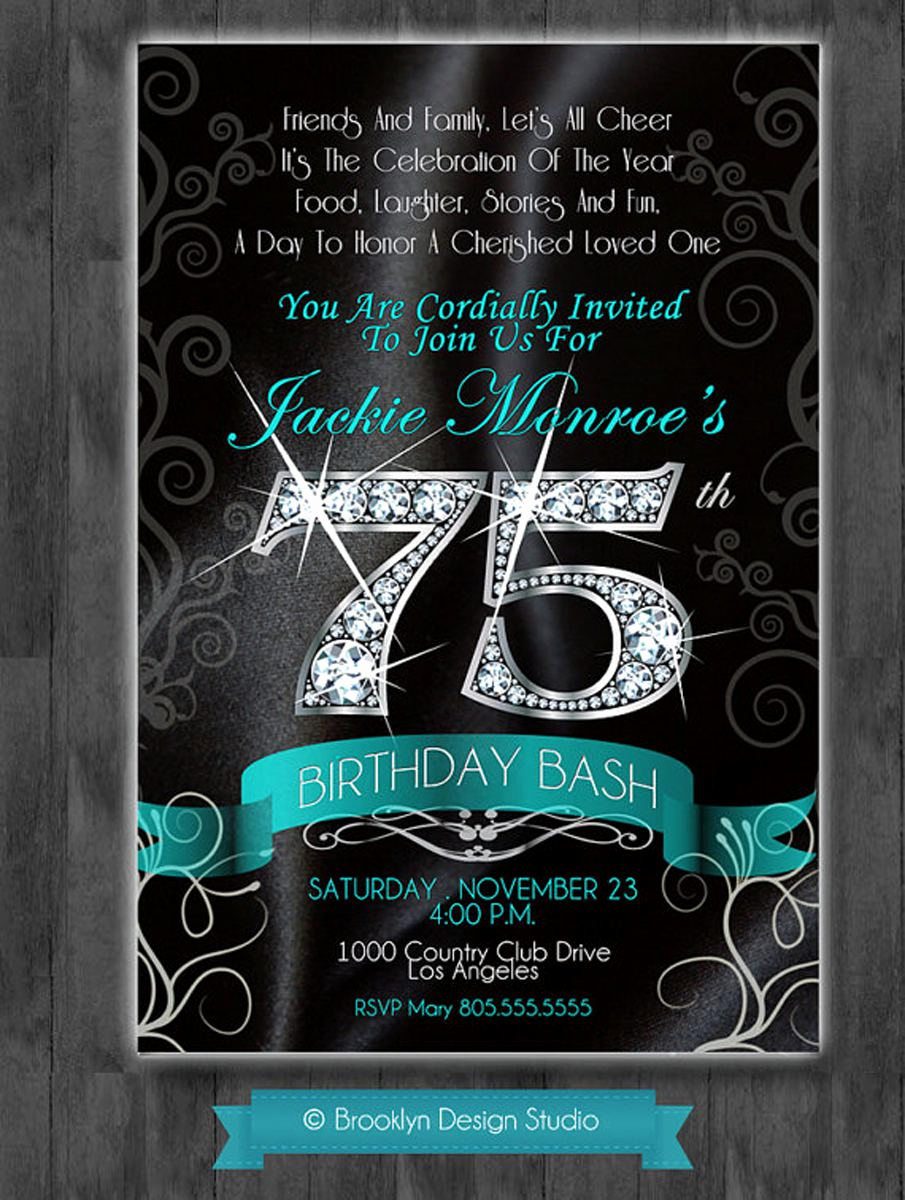 75th Birthday Invitation Wording Fresh 16 75th Birthday Invitations Unique Ideas