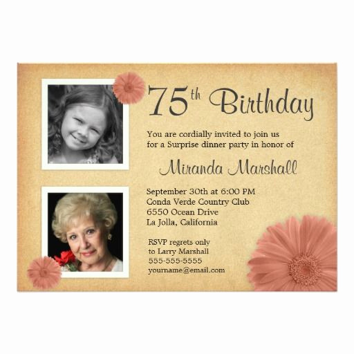 75th Birthday Invitation Wording Lovely 25 Best Ideas About 75th Birthday Invitations On