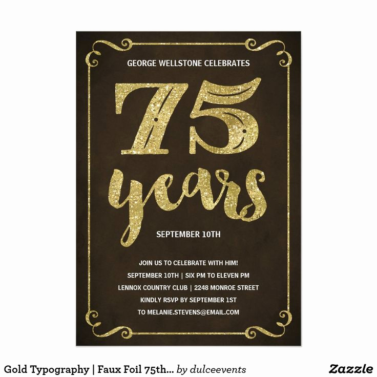 75th Birthday Invitation Wording Luxury Best 25 75th Birthday Invitations Ideas On Pinterest