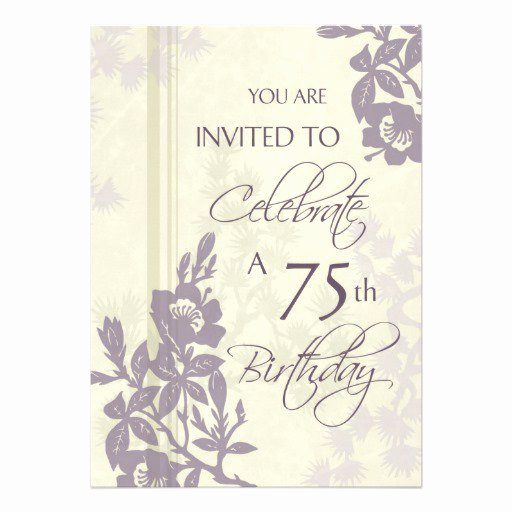 75th Birthday Invitation Wording Unique 75th Birthday Invitation Cards