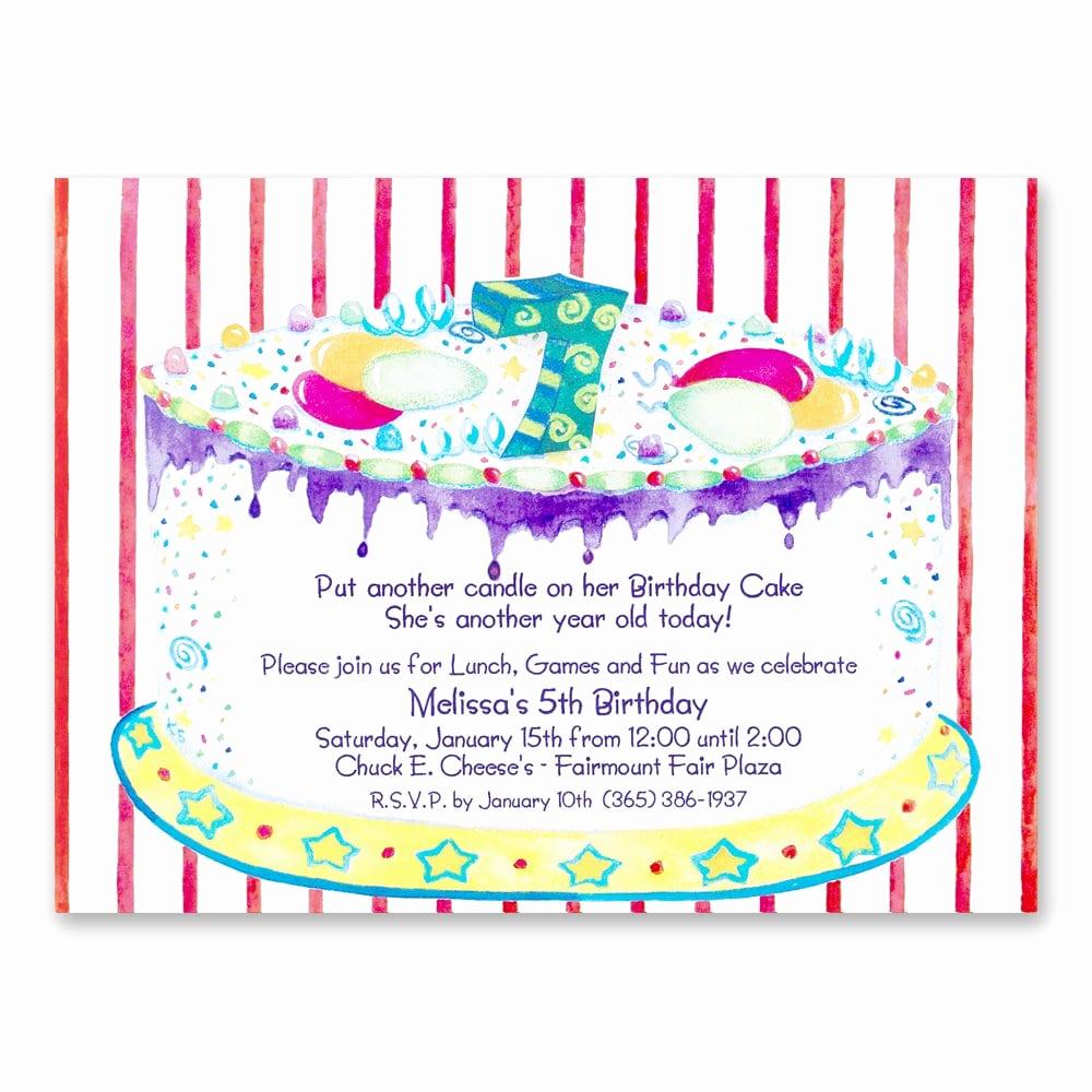 7th Birthday Invitation Wording Elegant Invitation 7th Birthday