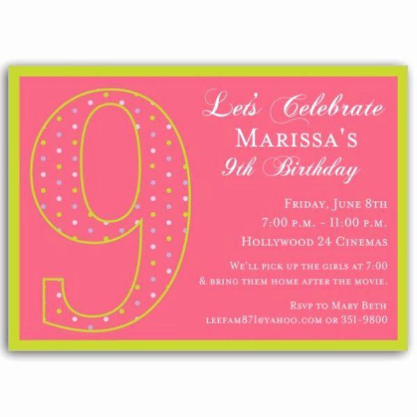 7th Birthday Invitation Wording Inspirational 9