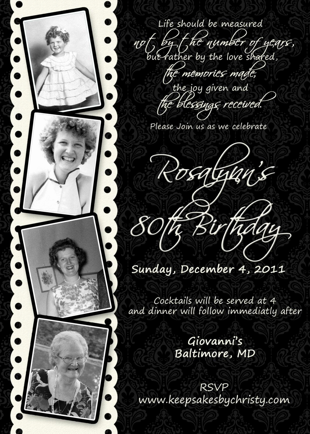 80th Birthday Invitation Templates Beautiful 15 Sample 80th Birthday Invitations Templates Ideas