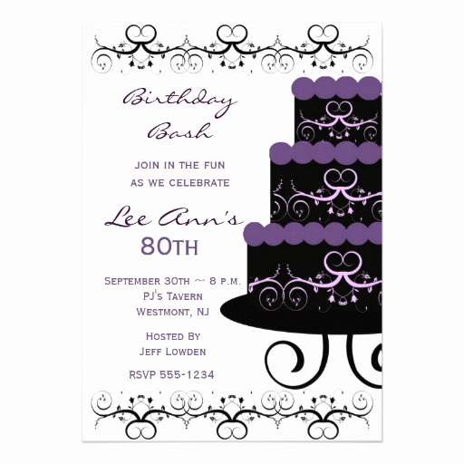 80th Birthday Invitation Templates Beautiful 80th Birthday Invitations Templates Ideas