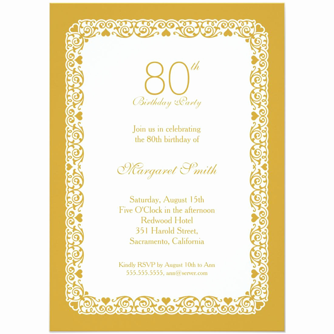 80th Birthday Invitation Templates Inspirational 15 Sample 80th Birthday Invitations Templates Ideas