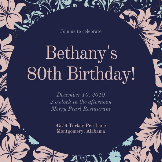 80th Birthday Invitation Templates Unique Customize 985 80th Birthday Invitation Templates Online