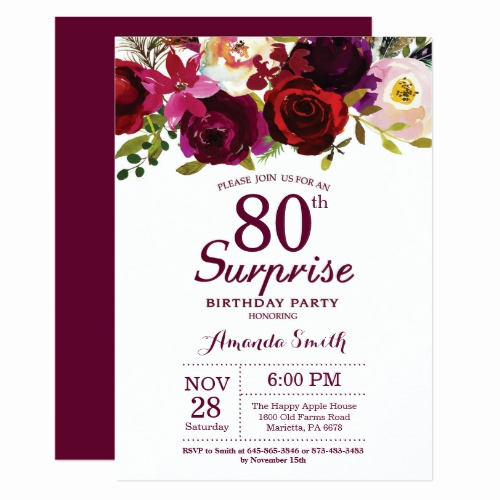 80th Birthday Invitation Wording Lovely 80th Birthday Invitations 30 Best Invites for An 80th