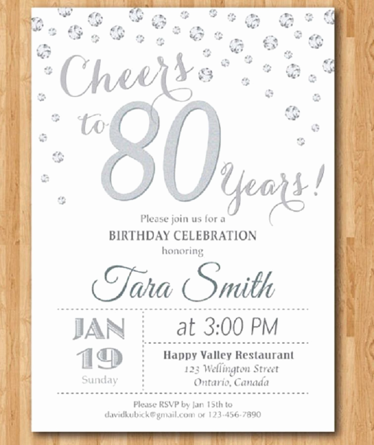 80th Birthday Invitation Wording Unique 80th Birthday Invitations Templates Free