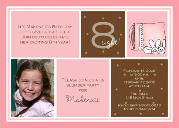8th Birthday Invitation Wording Lovely 8th Birthday Party Invitation Wording