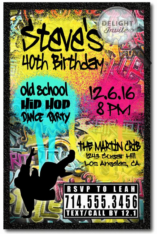 90s Party Invitation Wording Awesome Best 25 Hip Hop Party Ideas Only On Pinterest