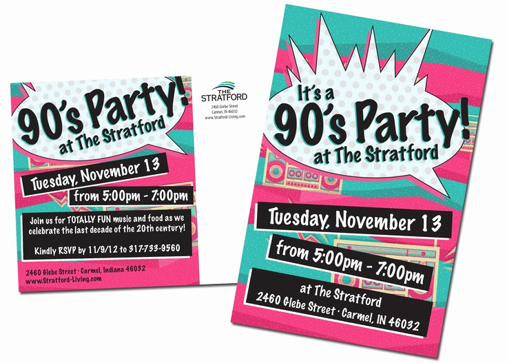90s Party Invitation Wording Elegant 90 S Party Direct Mail Pinterest