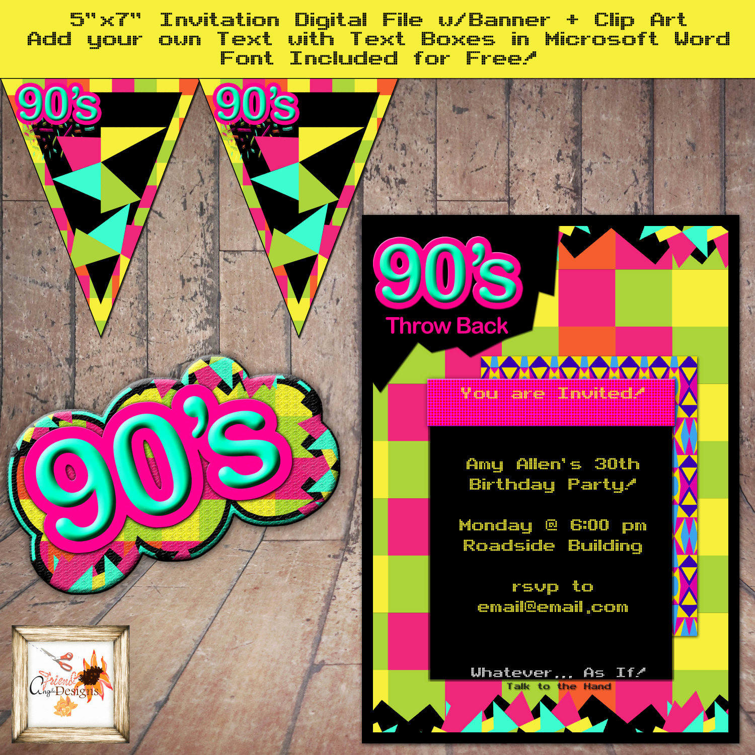 90s theme party throwback 5 x 7