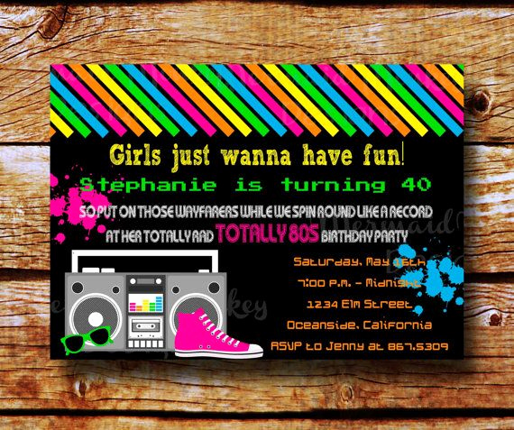 90s Party Invitation Wording Luxury 95 Best Images About 80s Vs 90s Party On Pinterest