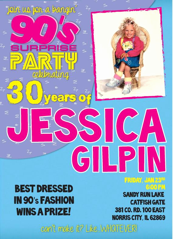 90s Party Invitation Wording New Items Similar to Ultimate 90s Party Invitation Digital