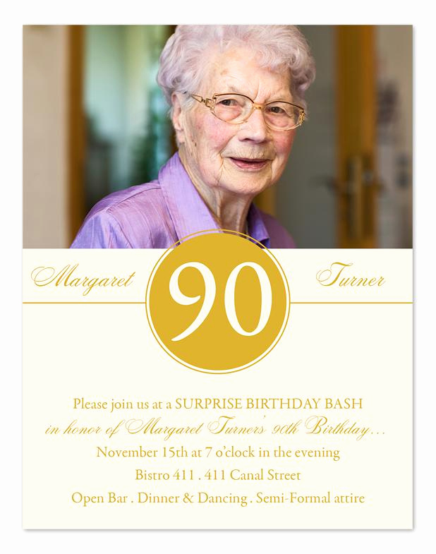 90th Birthday Invitation Ideas Awesome 15 90th Birthday Invitations – Tips Sample Templates