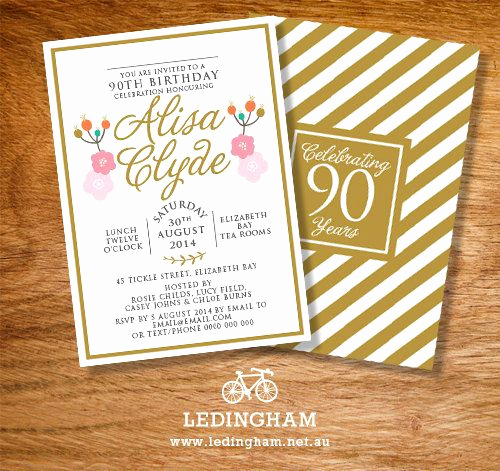 90th Birthday Invitation Ideas Awesome 17 Best Ideas About 90th Birthday Invitations On Pinterest