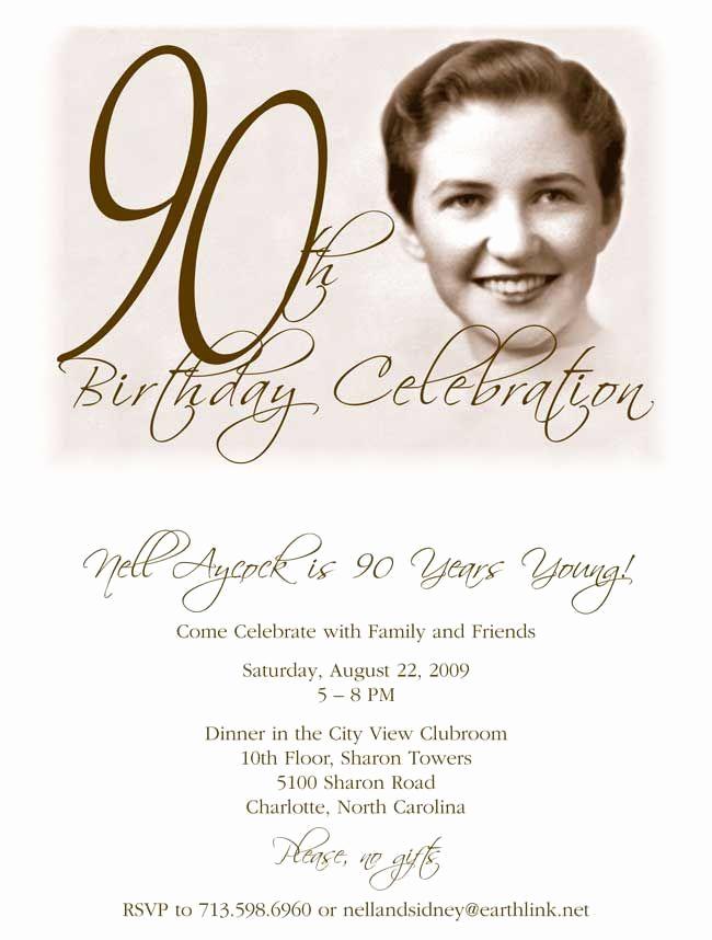 90th Birthday Invitation Ideas Best Of Get Free Template Free Printable 90th Birthday Invitations