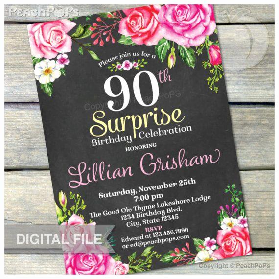 90th Birthday Invitation Ideas Fresh 17 Best Ideas About 90th Birthday Invitations On Pinterest