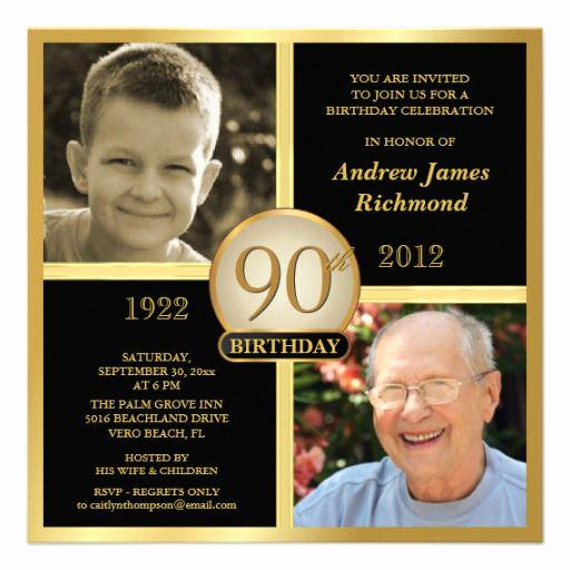 90th Birthday Invitation Ideas Lovely 15 90th Birthday Invitations – Tips Sample Templates