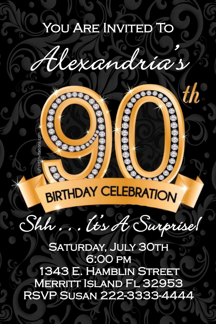 90th Birthday Invitation Ideas Luxury 17 Best Ideas About 90th Birthday Invitations On Pinterest