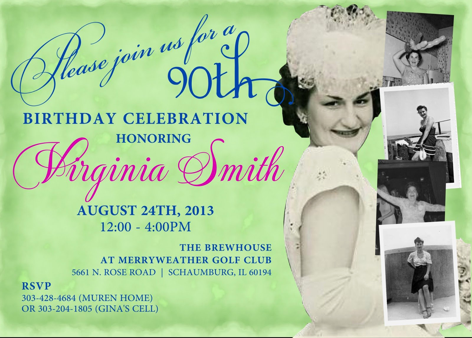 90th Birthday Invitation Templates Awesome 90th Birthday Invitations with