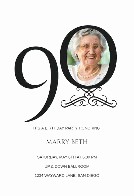 90th Birthday Invitation Templates Fresh 90th Birthday Invitation Templates Free
