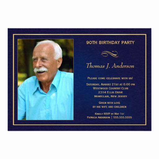 90th Birthday Invitation Templates Unique Personalized 90th Invitations