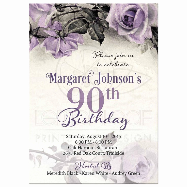 90th Birthday Invitation Wording Best Of 17 Best Ideas About 90th Birthday Invitations On Pinterest