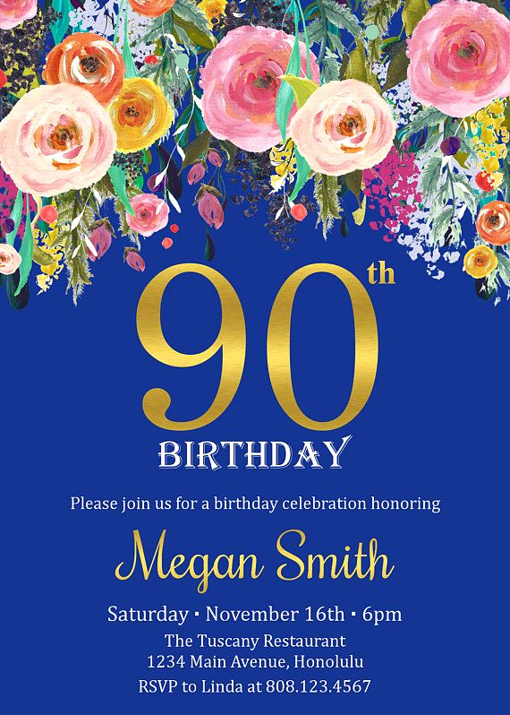 90th Birthday Invitation Wording Fresh Best 25 90th Birthday Invitations Ideas Only On Pinterest