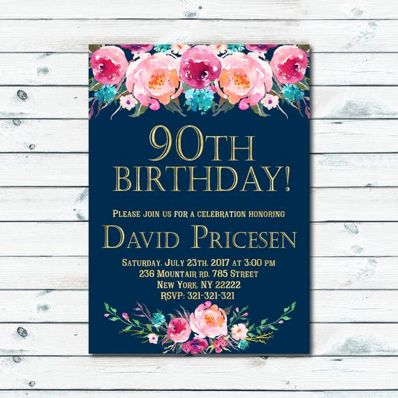 90th Birthday Invitation Wording Inspirational 90th Birthday Invitations for Women Surprise Birthday