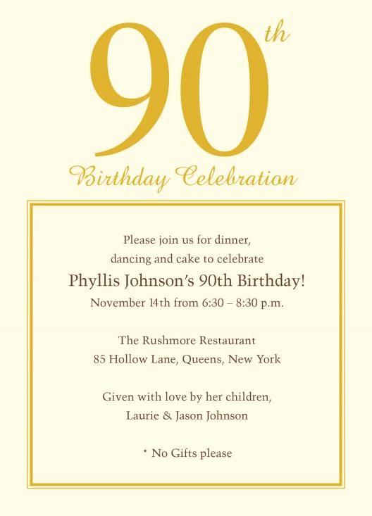 90th Birthday Invitation Wording Inspirational 90th Invite Wording Invites