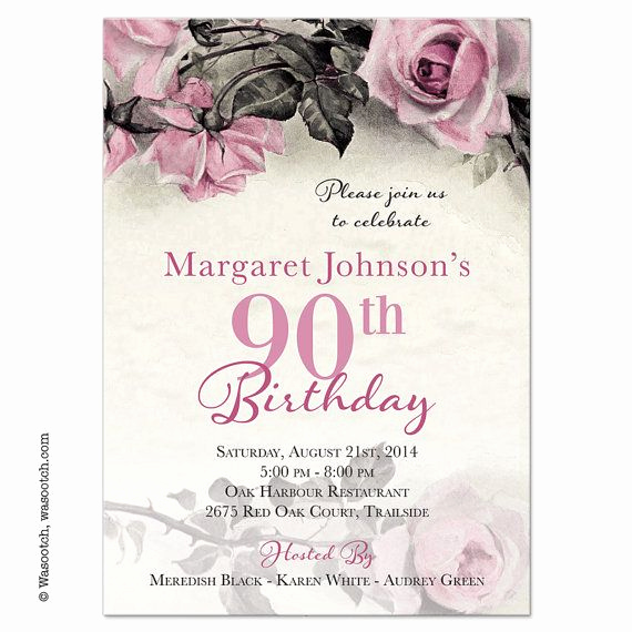 90th Birthday Invitation Wording Lovely 25 Best Ideas About 90th Birthday Invitations On