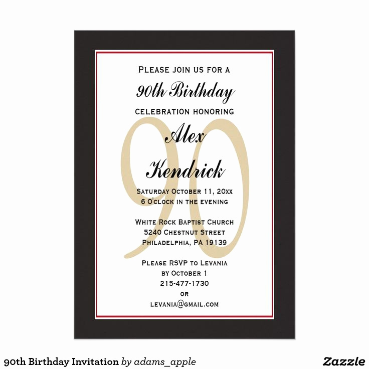 90th Birthday Invitation Wording Luxury 1000 Ideas About 90th Birthday Invitations On Pinterest