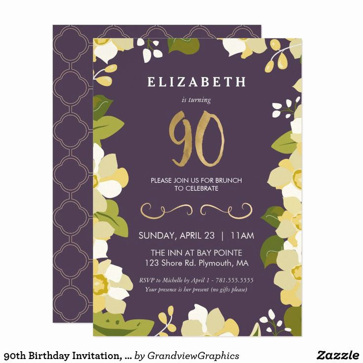 90th Birthday Invitation Wording Luxury Best 25 90th Birthday Invitations Ideas Only On Pinterest